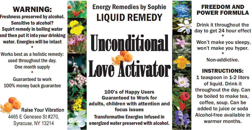 unconditional love activator remedy