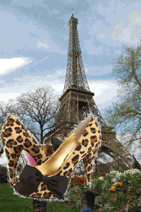 Paris in the spring with Paris Hilton shoes