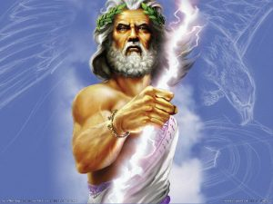 zeus, chief god in greek mythology