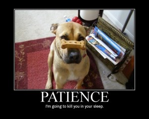 patience activator... a little humor