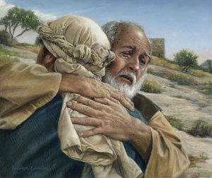 the prodigal son is welcomed home. you can never lose home
