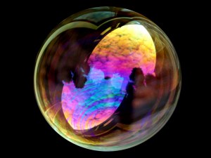 soap bubble to bubble yourself to isolate yourself from any emotion