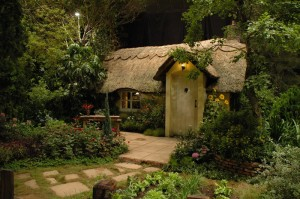 cottage of the old lady in the fairy tale