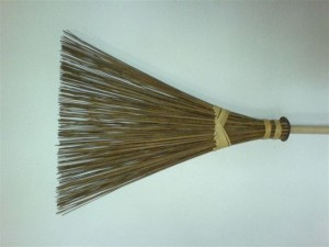 broom clean the areas where you walk