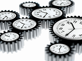 clocks synchronize... their speed, not the time!