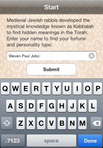 iphone app kabbalistic numerology plus tarot and other mystical stuff