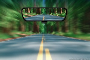 driving with your attention in the rear view mirror