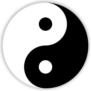 yin and yang, heaven and hell within us, growth and staying the same battle it out