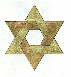 star of david, symbol of permanence and change, good and bad, higher and lower, ego and soul
