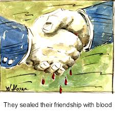 they sealed their friendship with blood