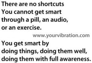 you can't get smart from a pill