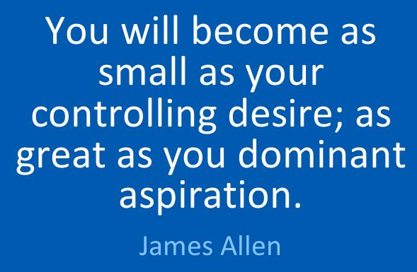 desire versus aspiration