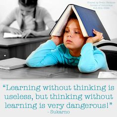 learning without thinking