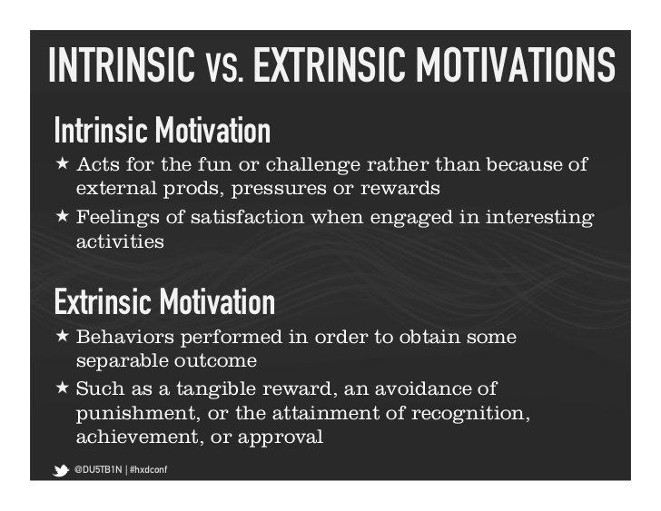 intrinsic versus extrinsic motivation essay