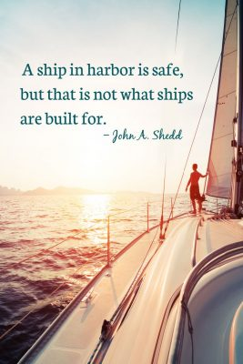 from safety to the open seas