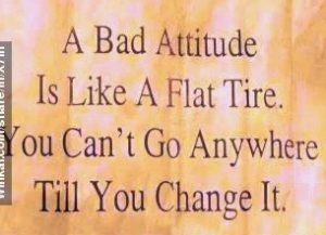 bad attitude, the attitude of resisting