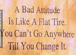 bad attitude, the attitude of resisting