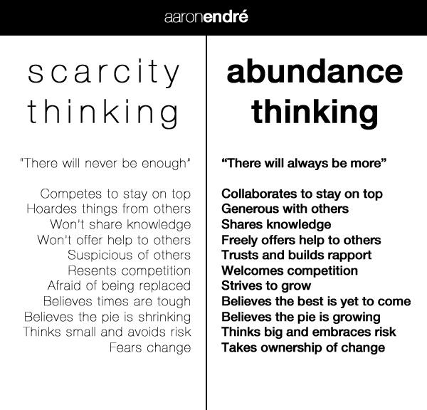 scarcity thinking keeps you wanting