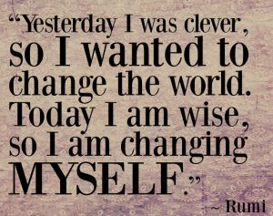 the wise changes themself