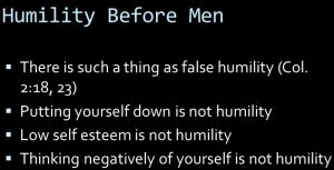 not-humility