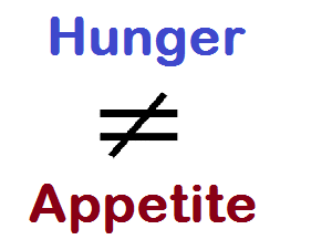 hunger is not the same as appetite