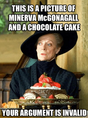 Minerva and chocolate cake proof