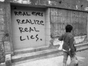 real eyes see real lies