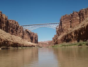 bridge from one side to the other of the Grand Canyon