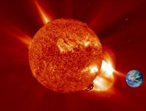 solar storm effecting the earth