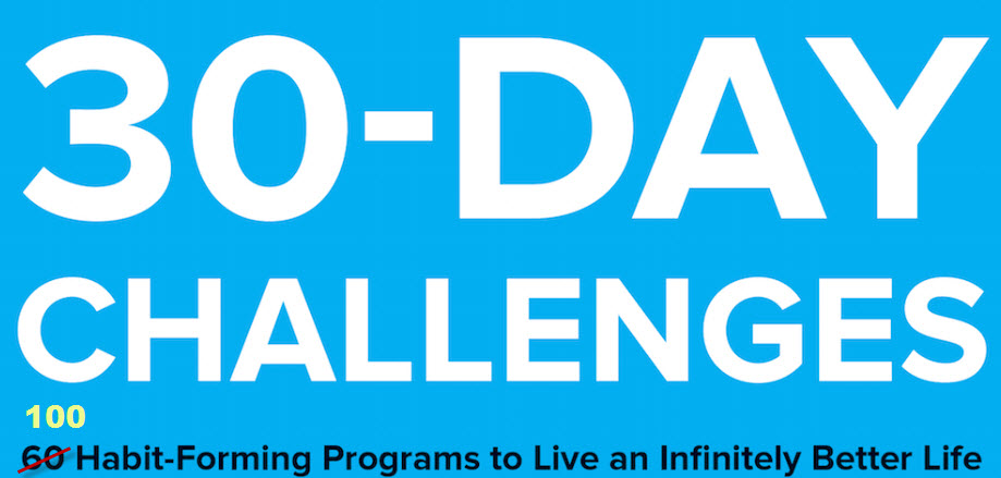 30-day challenge ideas… or why did I have brain fog yesterday?