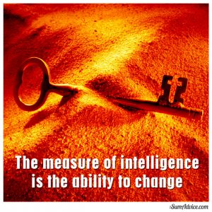 The measure of intelligence is the ability to change. ~Einstein