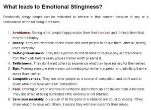emotional stinginess