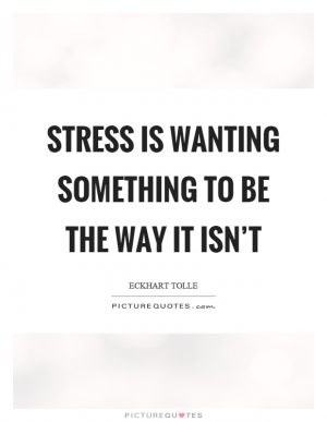 stress is wanting