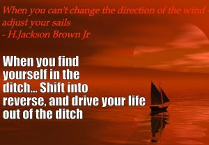 drive your life out of the ditch