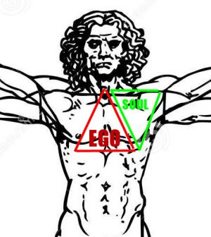ego and soul energy location in the body