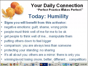 humility... what does it mean?