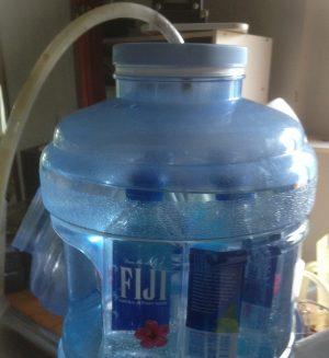 water-setup for entrainment method