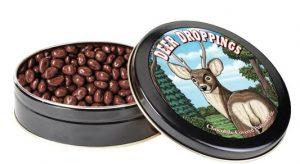 deer droppings covered in chocolate