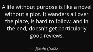 life without purpose is like a novel without a plot