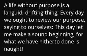 life without a purpose