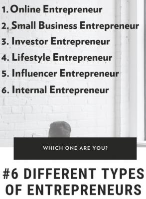 6 types of entrepreneurs