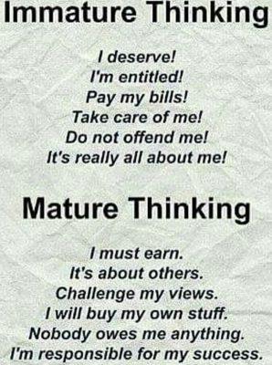 entitlement is immature attitude