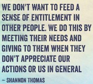 sense of entitlement