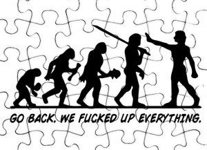 how evolution got messed up... wrong puzzle pieces