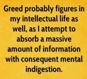 mental indigestion