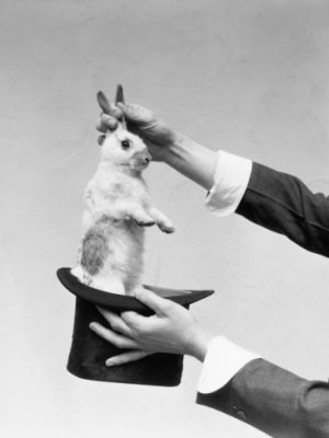 your strategy is magic: pull a rabit out of a hat