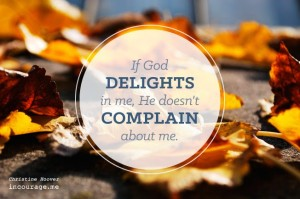 god is happy, god complains