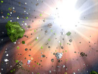 comet explosion