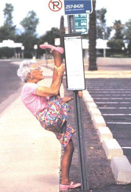 granny with flexibility