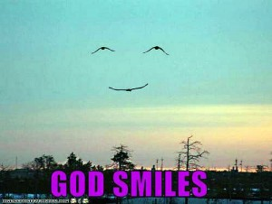 God-smiles